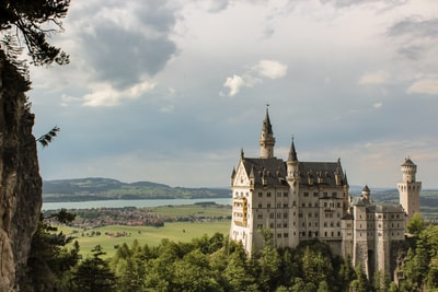 architectural photography of castle