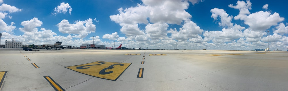 landscape photography of runway