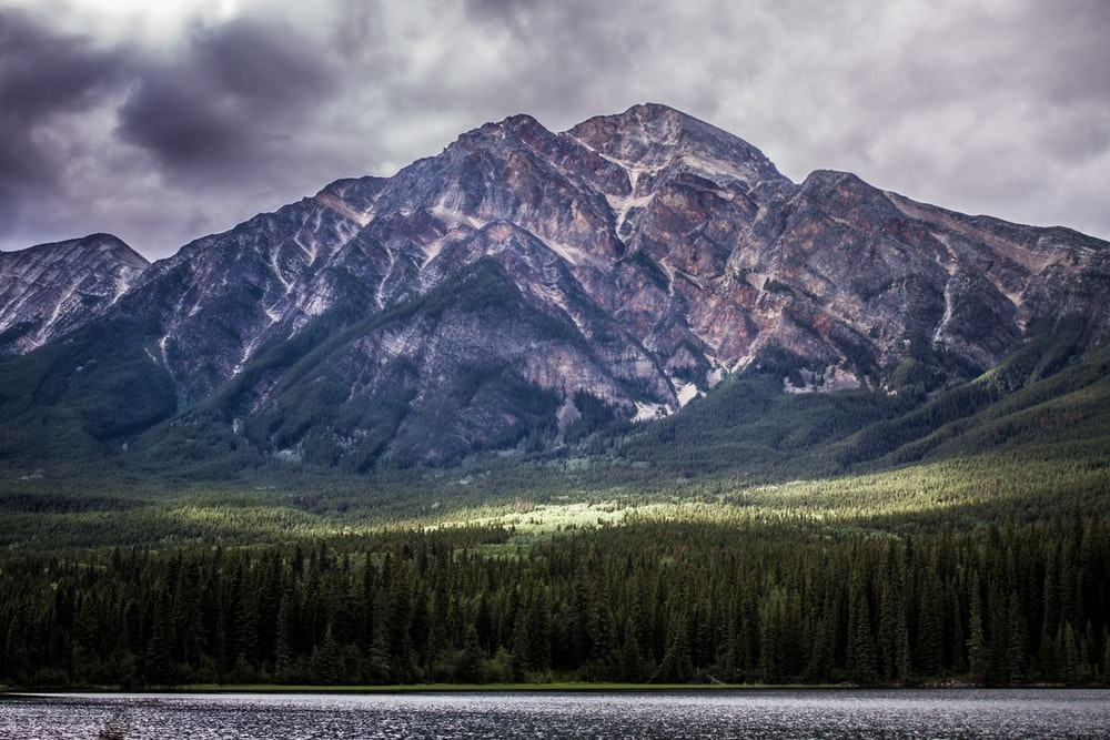 wide photography of mountain