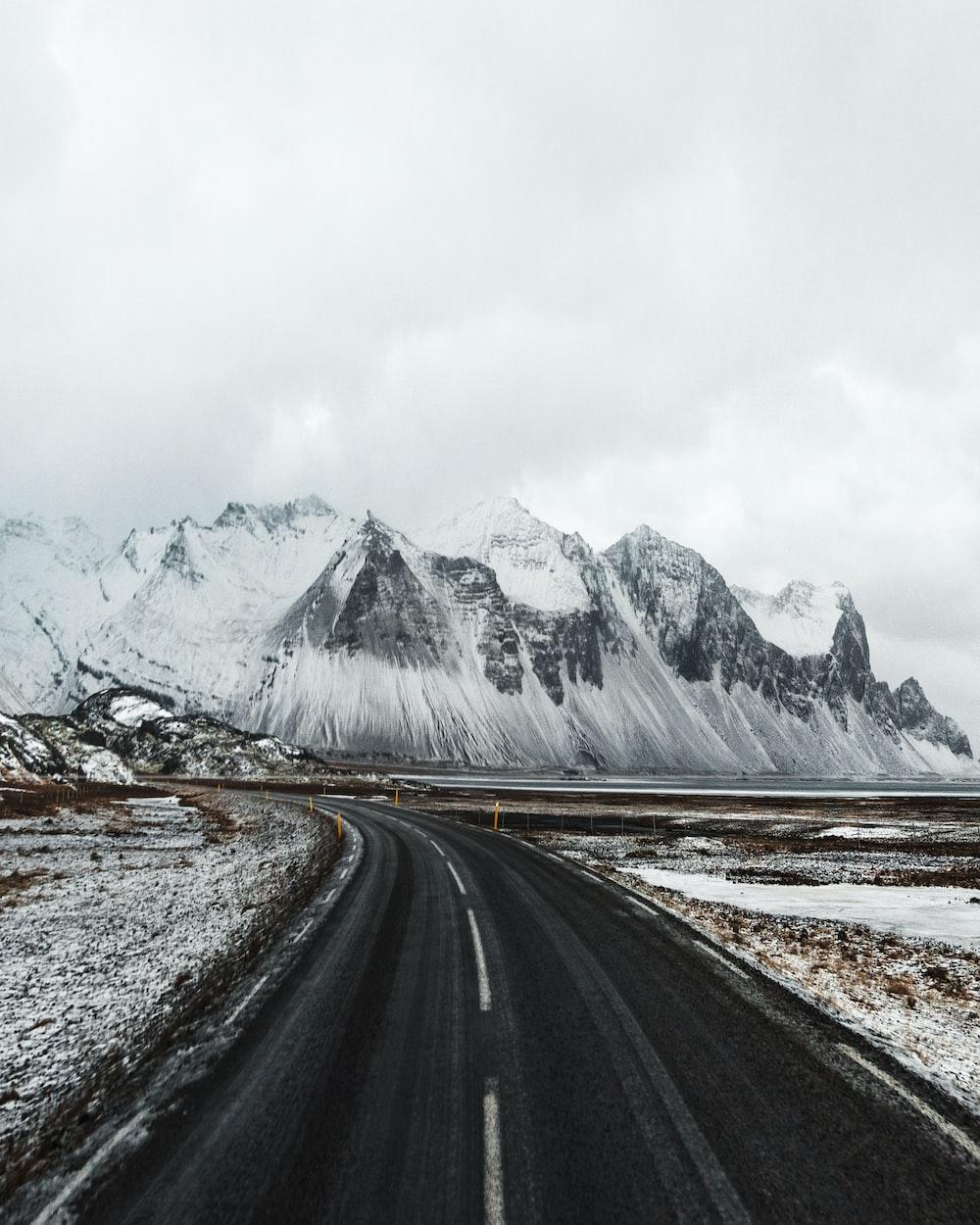 black-paved road