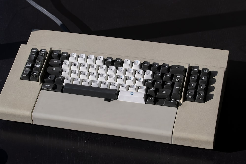 white and black computer keyboard