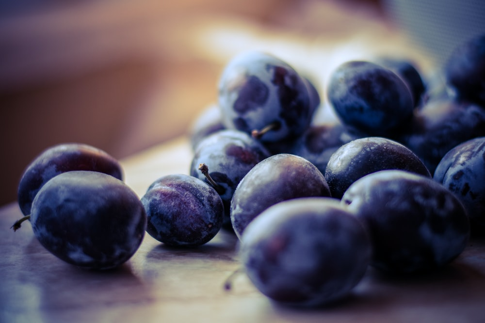 selective focus of grapes fruit