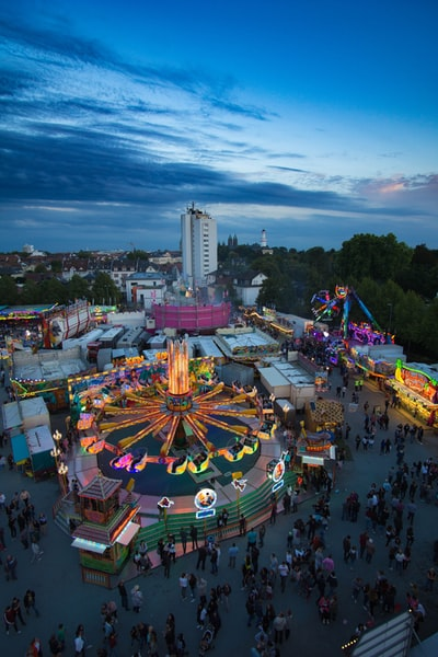 Lantern festival in Bad Homburg Germany