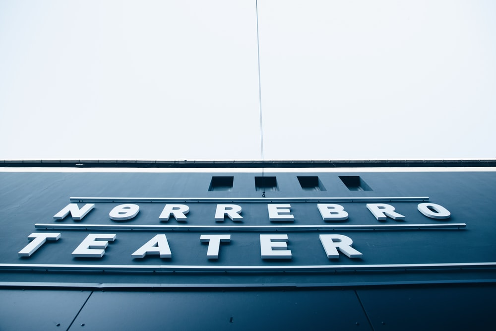 Norrebro Theater signage