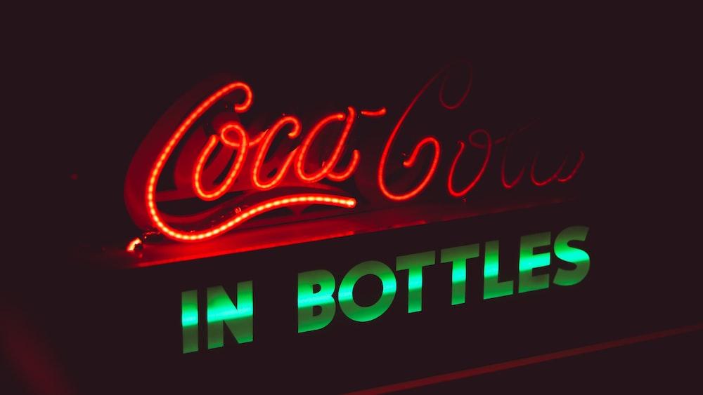 Coca-Cola in Bottle neon sign