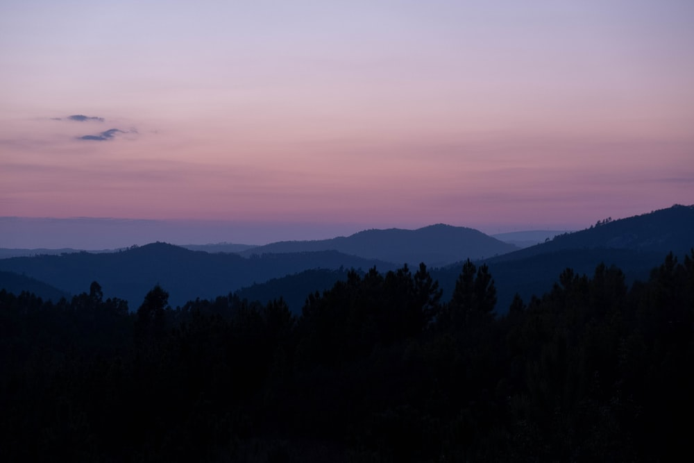 landscape photo of mountains during nighttime