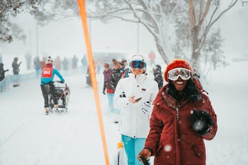 Skiing at Hammarbybacken Resort
