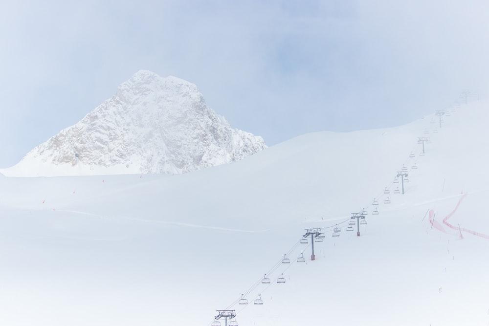 snowfield under white sky