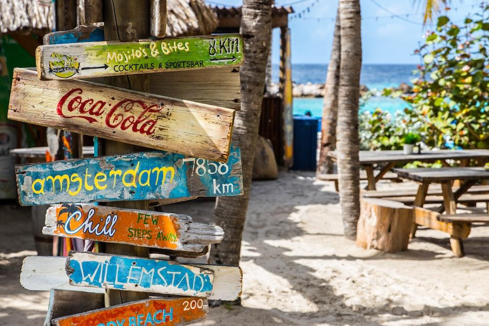 Coca-Cola wooden signage