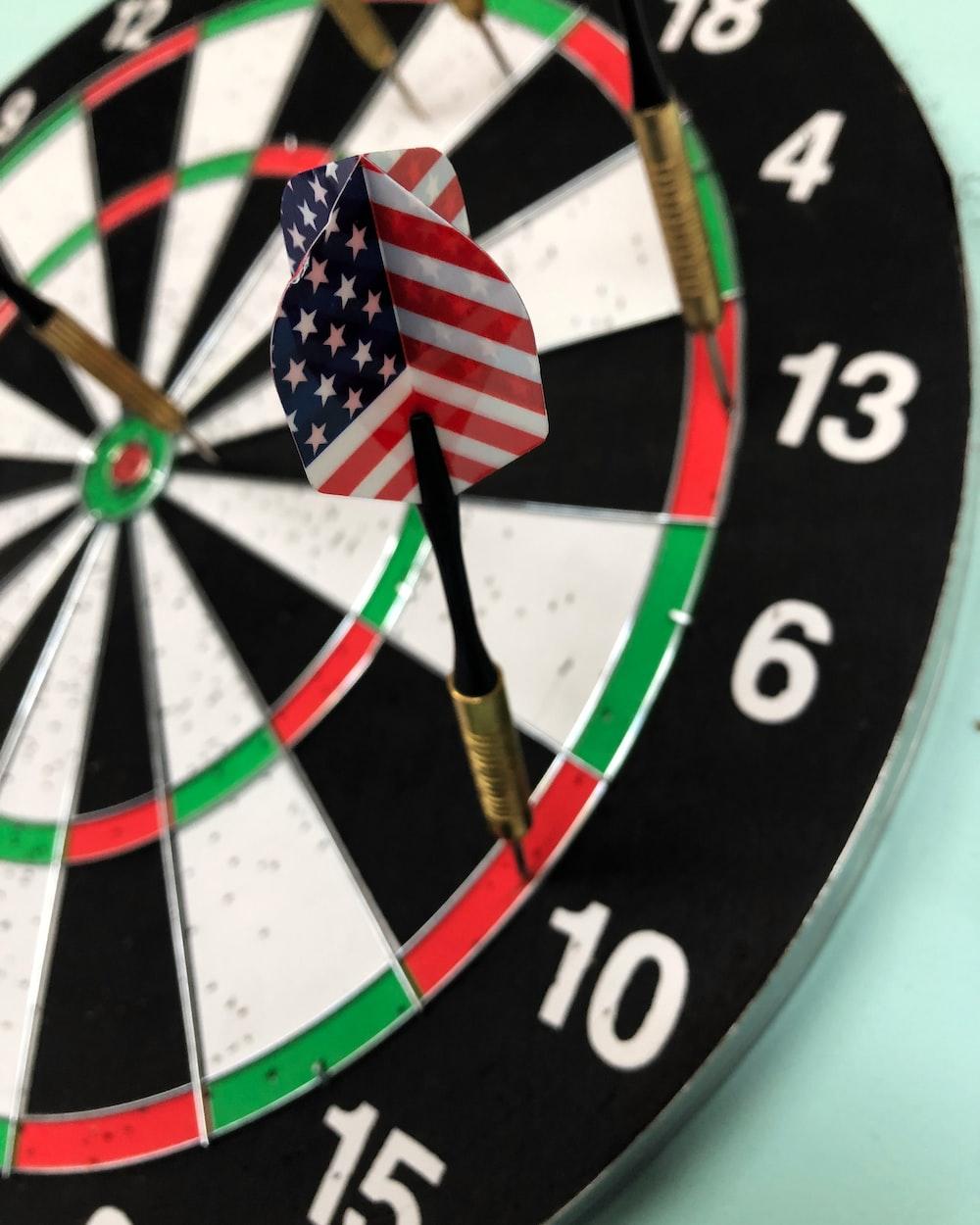 dart on dartboard