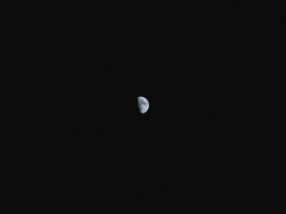 gray moon during night