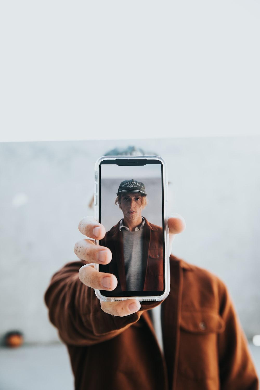 man taking selfie photo