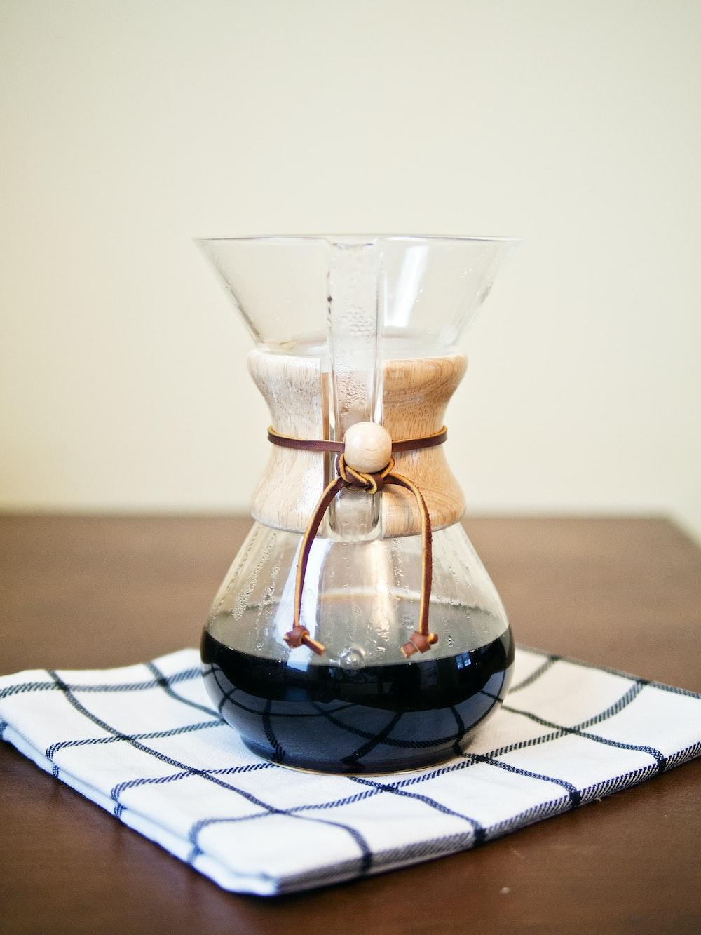 black tea on pitcher