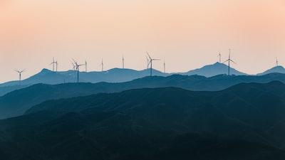 windmill on mountain