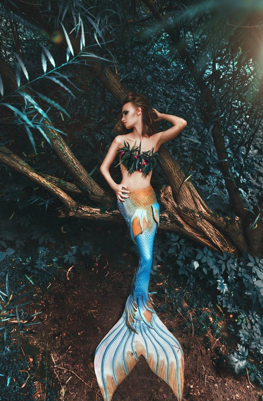woman in mermaid costume