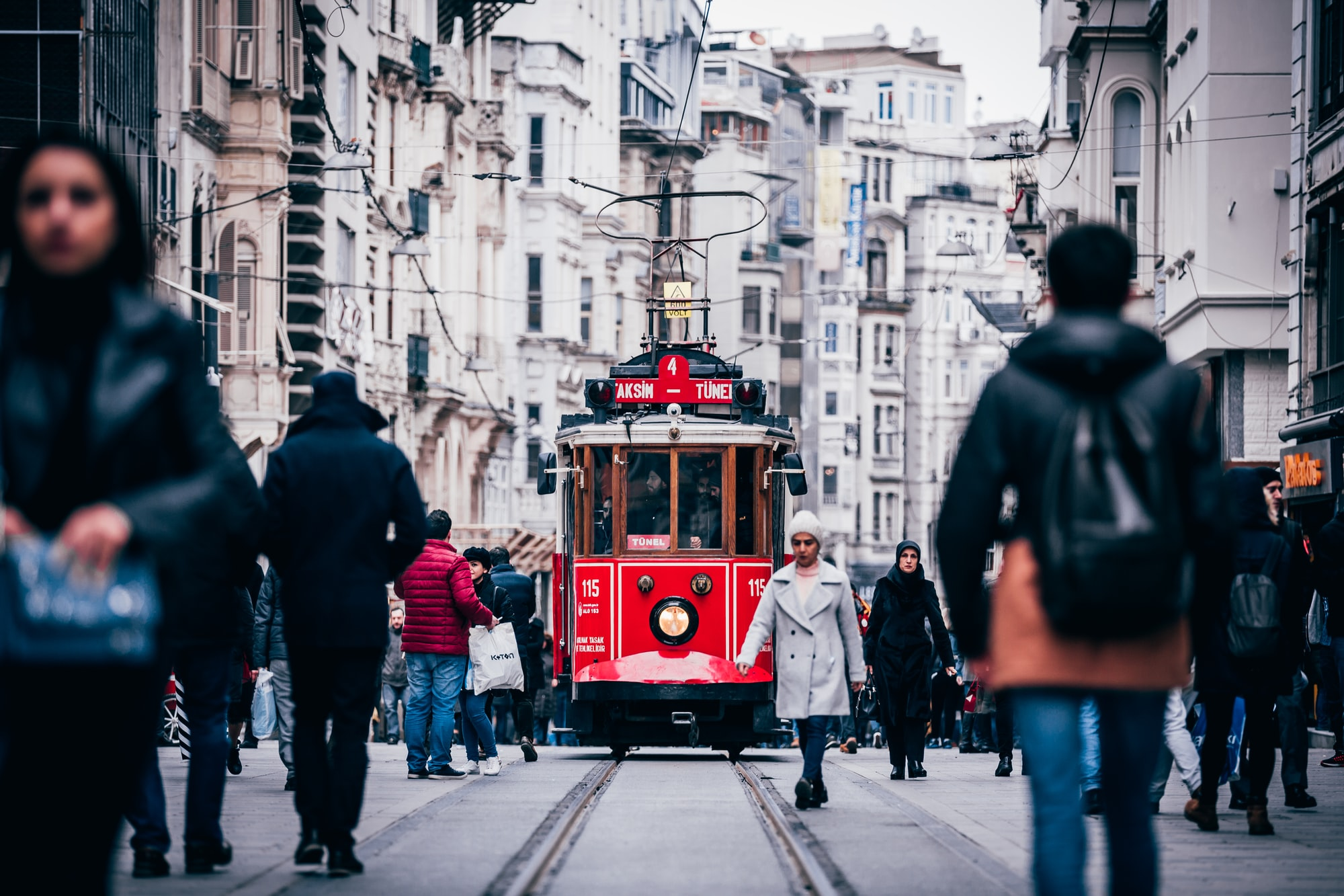 I was walking through the Istanbul shopping area, Taksim. In Taksim they use these