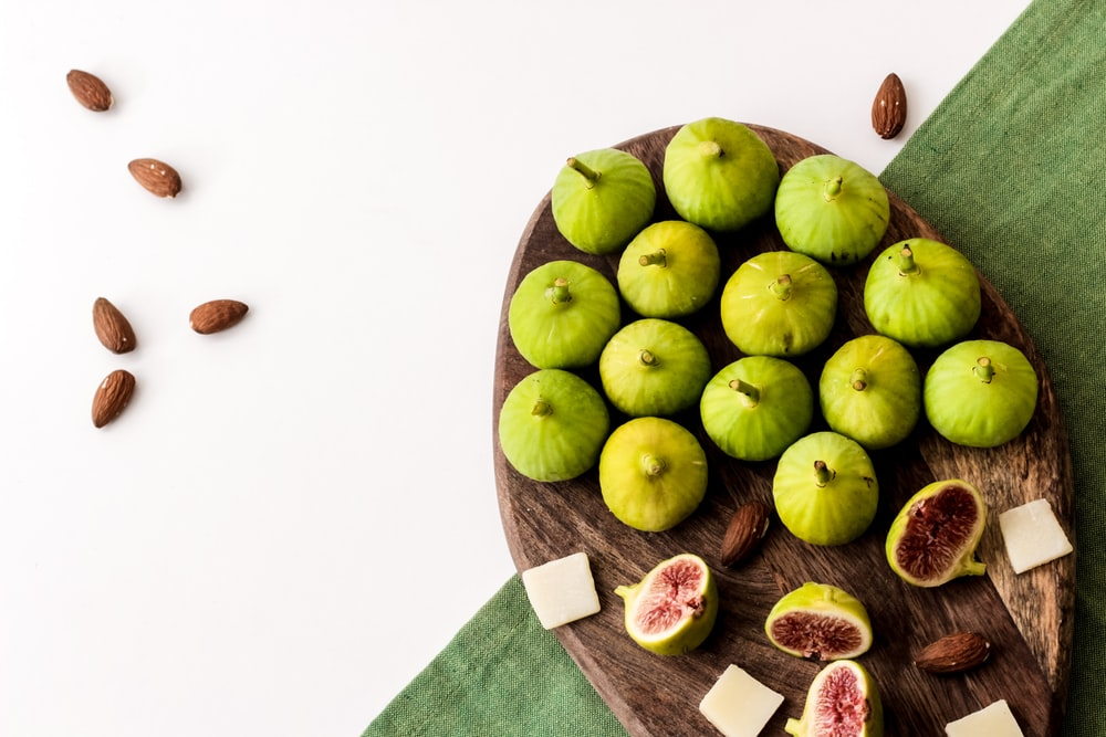 green pomegranate fruits