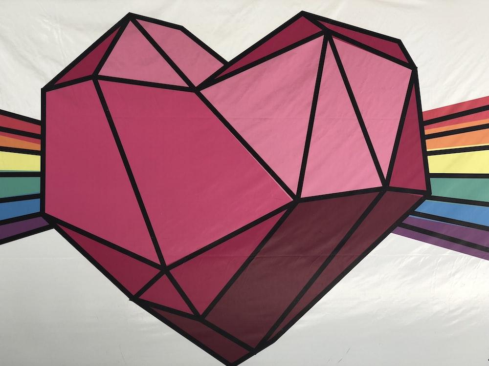 pink heart illustration
