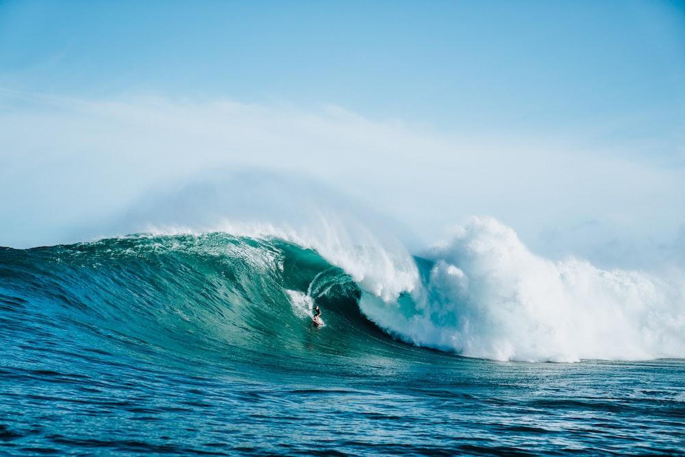 ocean waves at daytime