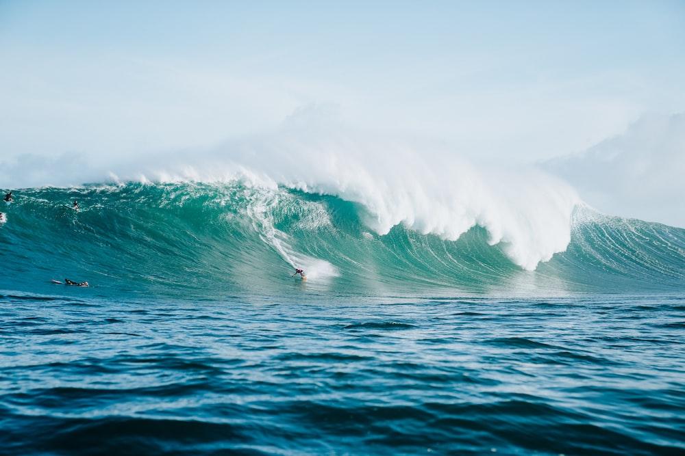 wavy sea at daytime