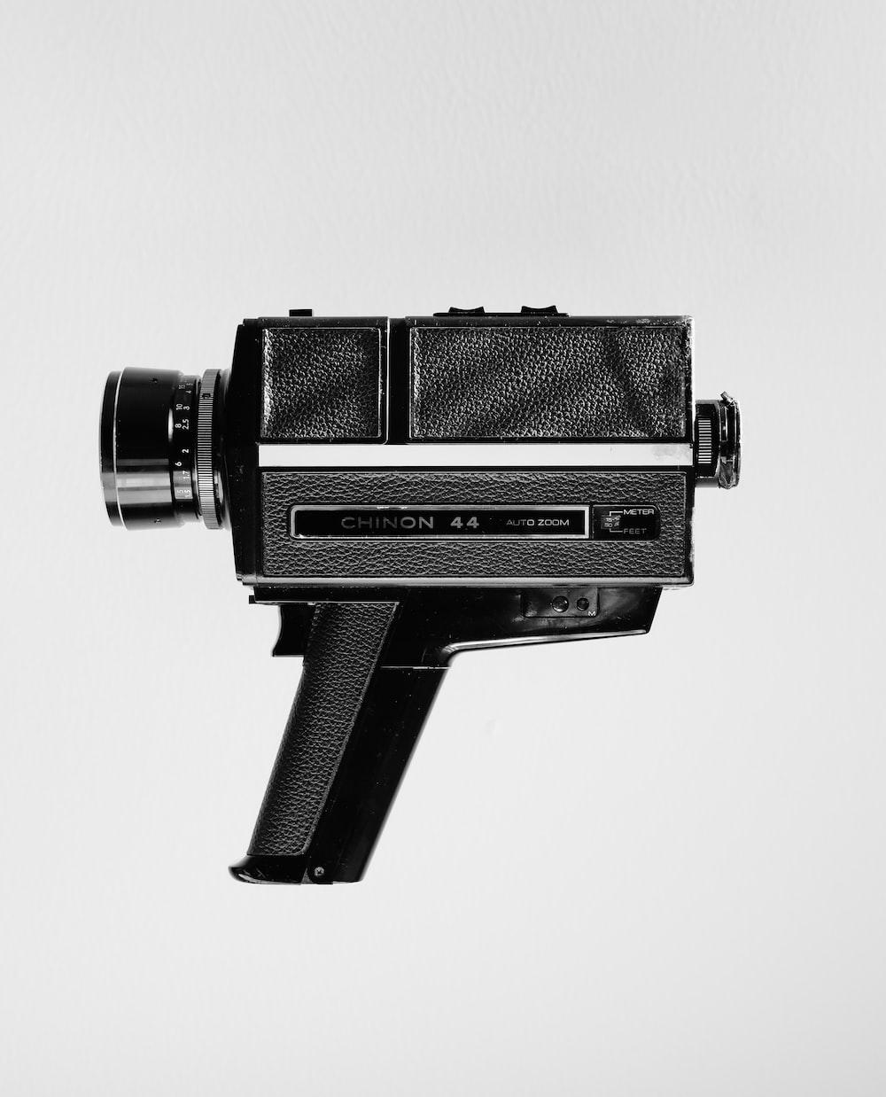 vintage black video camera