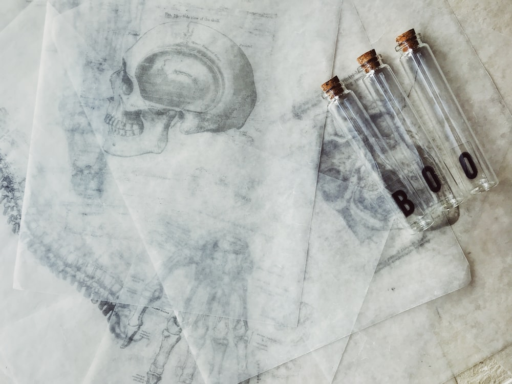 three clear glass tubes