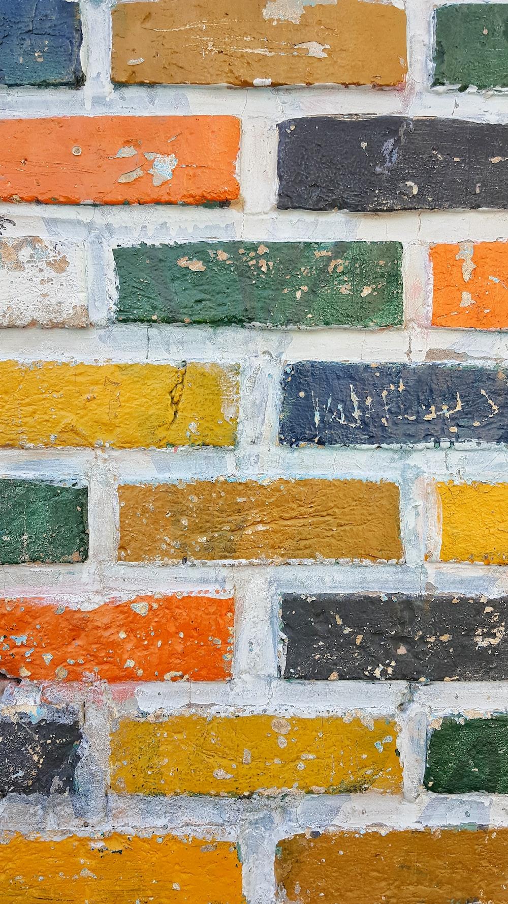 multicolored concrete bricks