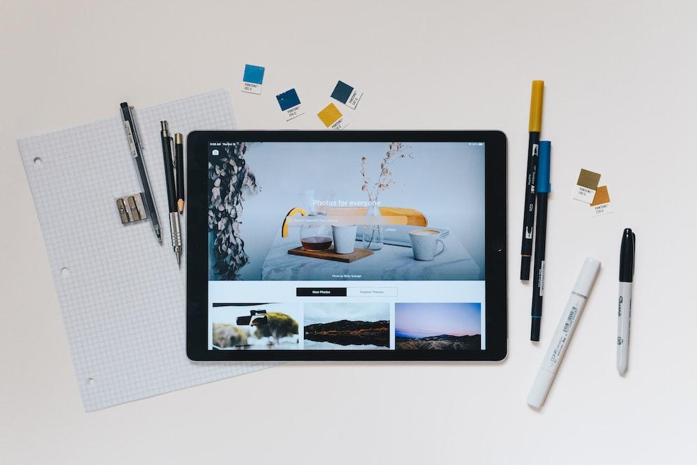 space gray iPad