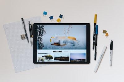 iPad with designer tools