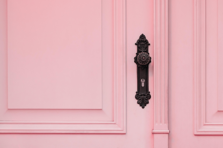 white wooden door