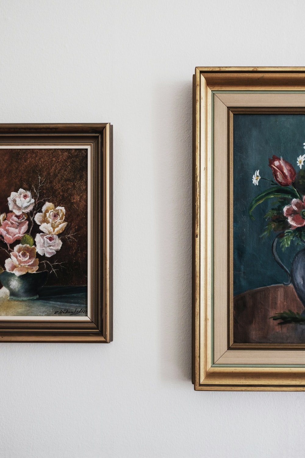 assorted-color flowers painting