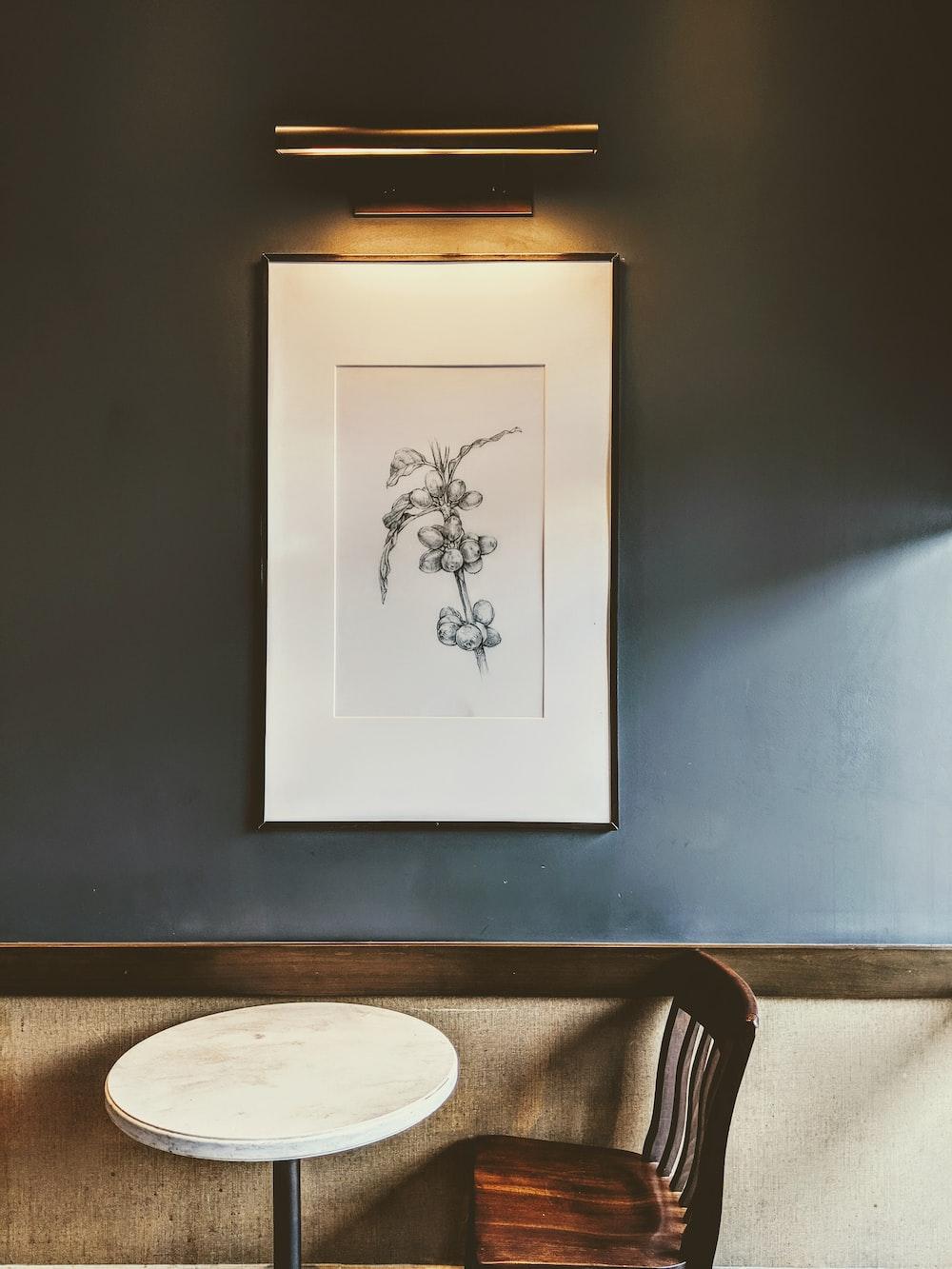 black flower sketch