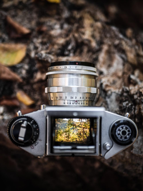 gray DSLR camera