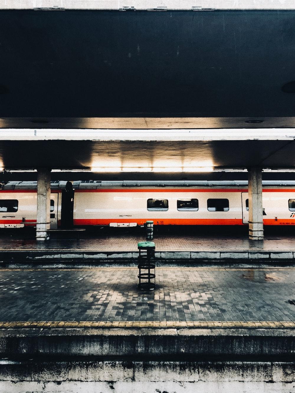 white and orange train