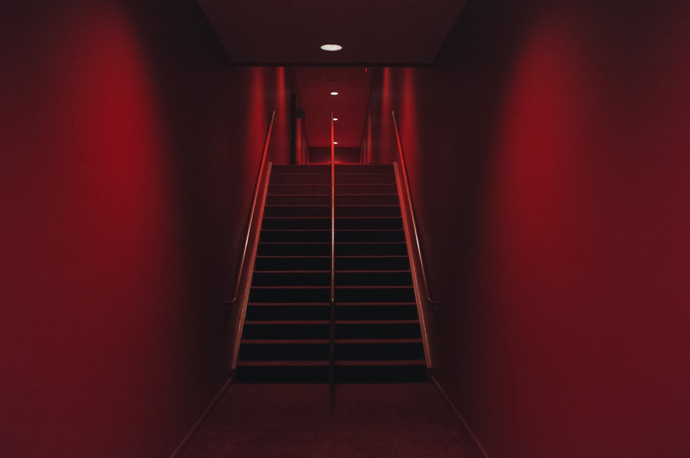 black concrete staircase