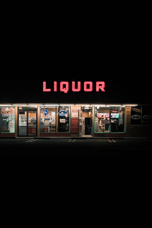 Liquor signage
