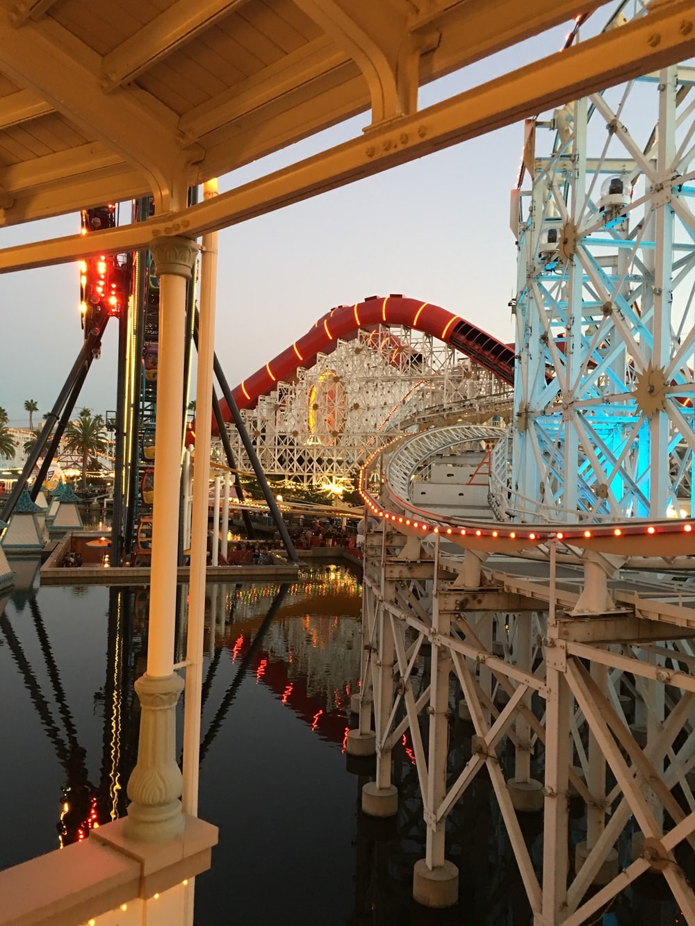 amusement park on body of water
