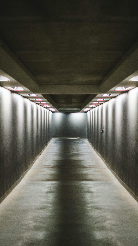 empty gray pathway