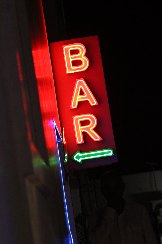 bar neon light signage