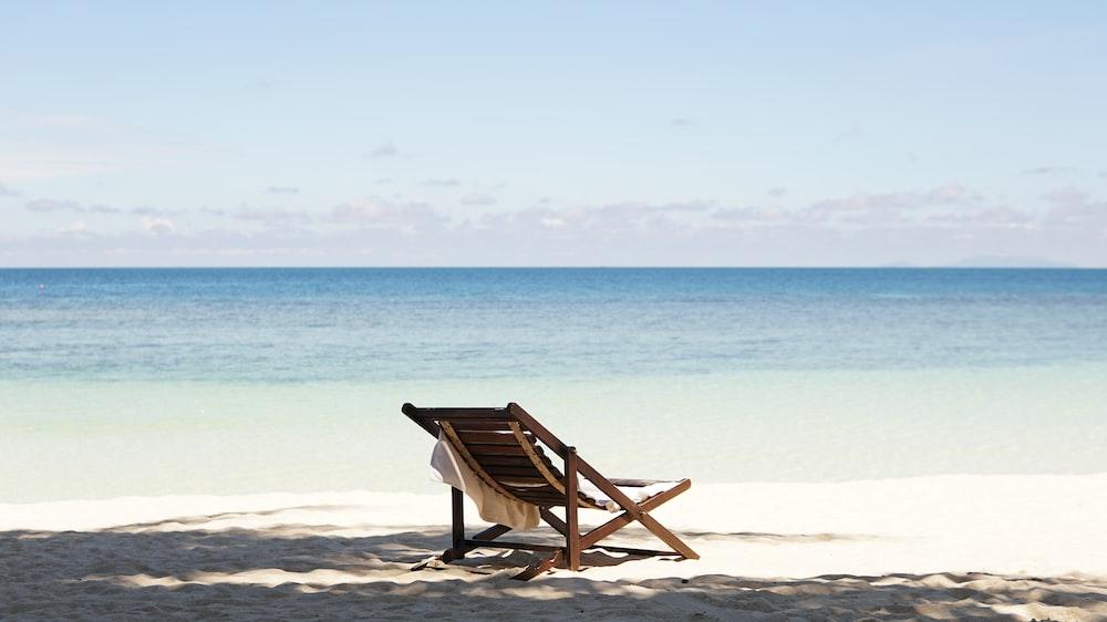 sun lounger in beach