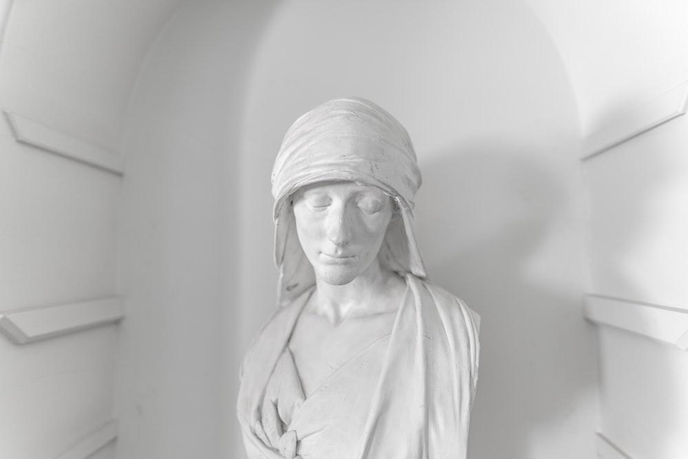 white women bust statue
