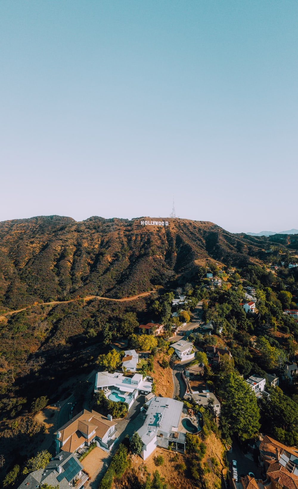 white houses on mountain