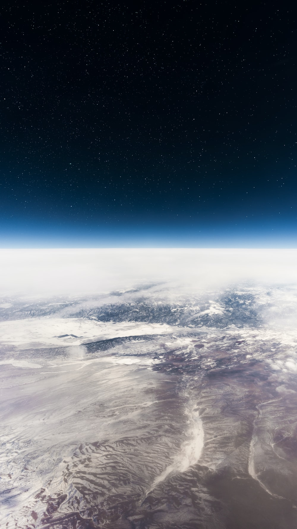 outer space earth view