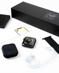 Apple Watch with box and bands
