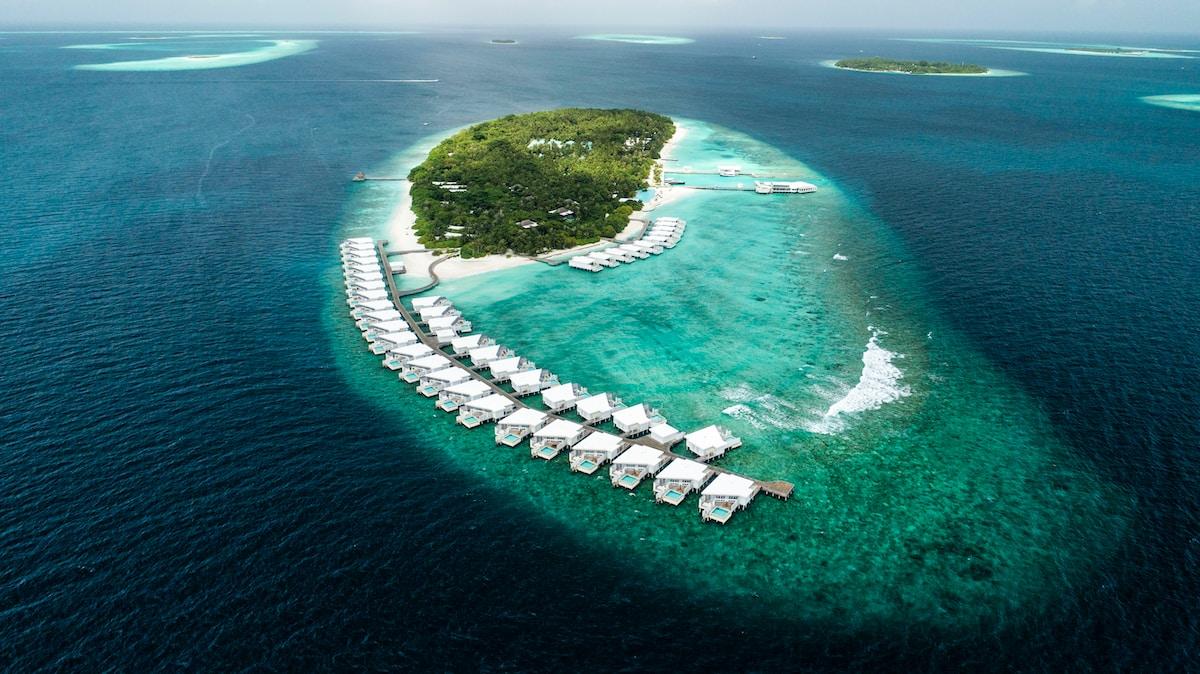 C'est aux Maldives, c'est joli hein?