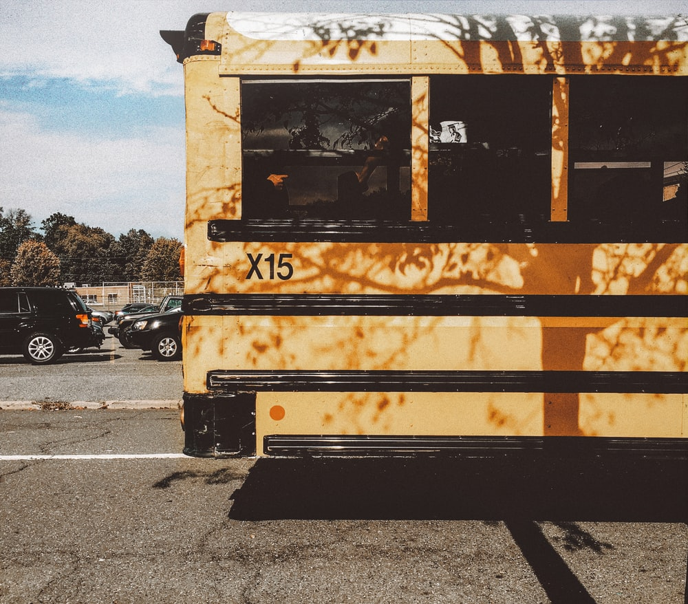 brown and black bus during daytime
