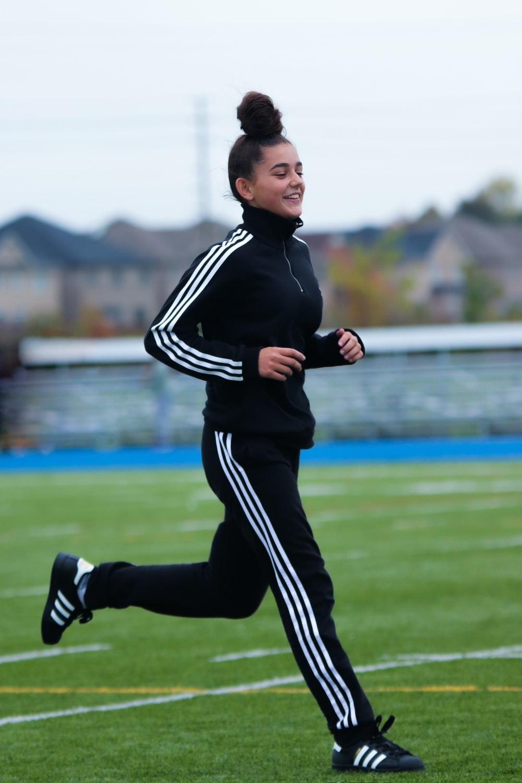 running girl during daytime