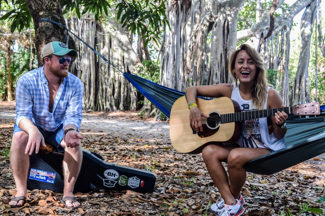 Hammocking with some friends and music in Fort Lauderdale Florida.