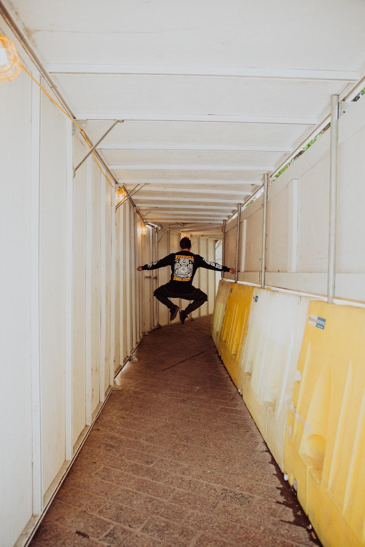 man lifting on white intermodal