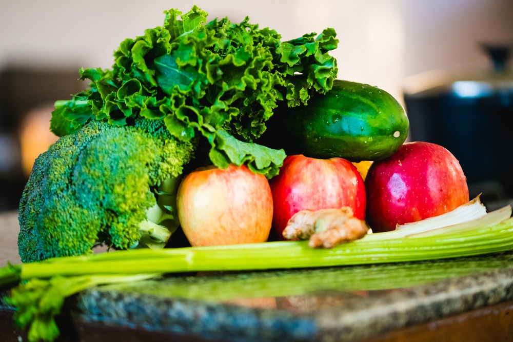 selective focus photography of vegetables